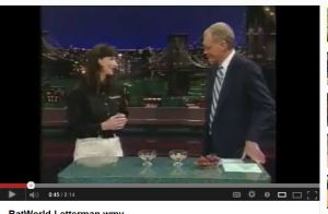 Amanda dispels myths about Bats with David Letterman
