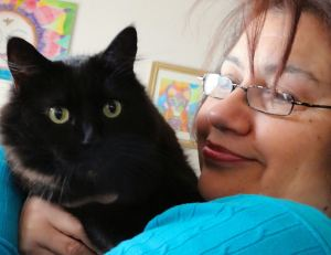 Fiona and me. I believe that our cat, cleo who passed a day before told her Mother that she needed to live with us. This is a story I will share in the book.